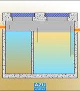AZU Water degrassatore GREASE ST, pre-trattamento per acque grigie di reflui civili o assimilabili.