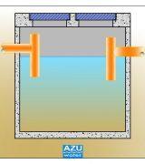 AZU Water fossa settica SEPTIC CM, trattamento piccolo sistema di trattamento reflui domestici.
