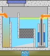 AZU Water STORM S separatore per liquidi leggeri